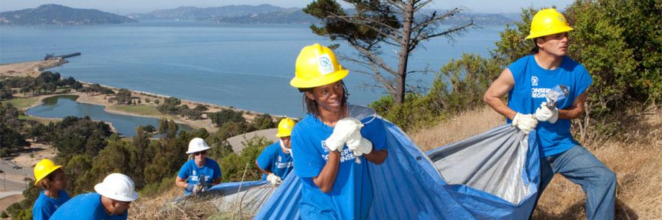 SCA Community Conservation Crews cleaning up in the San Francisco Bay Area