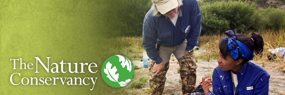 A Globe Intern in the field. SCA is now recruiting select interns for the Nature Conservancy's GLOBE Program