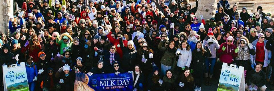 Hundreds of New Yorkers joined SCA for a day of service in honor of Martin Luther King Jr. this past January 20.