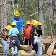 SCA Americorps Interns working with School Children at Bear Brook NH