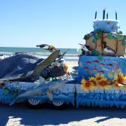 Padre Island National Seashore float at recent Mardi Gras parade