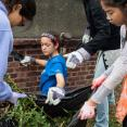 SCA Volunteers cleaning up green spaces in New York City