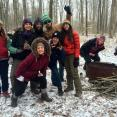 SCA Excelsior Corps members brave the snow