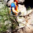 Pulling London Rocket at in the Organ Pipe rock formations at Chiricahua.  This stuff is usually 10 inches, not 10 feet tall.