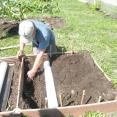 Building raised bed irrigation system